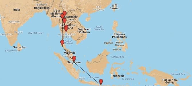 Sud-Est Asiatico – Il nostro itinerario