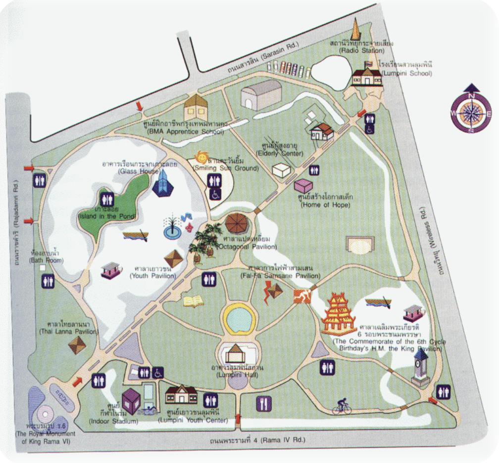 Mappa Lumpini Park Bangkok