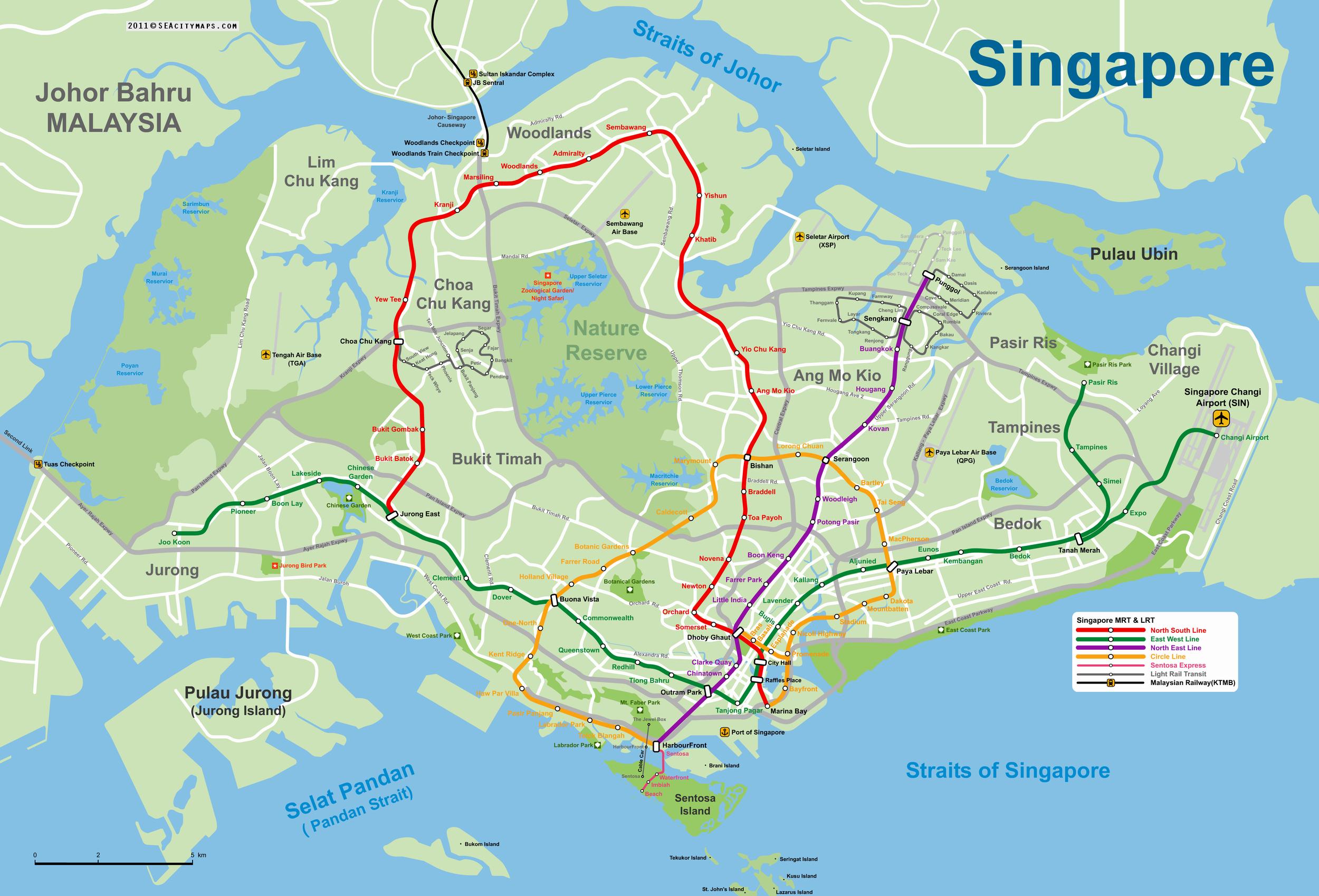 Mappa Singapore 2