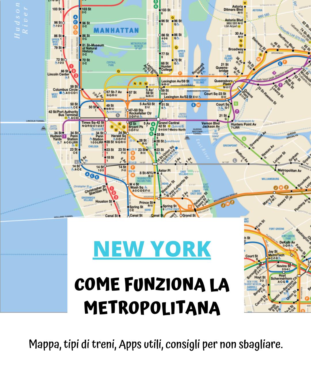 Metro di New York: mappa, come funziona, abbonamenti.