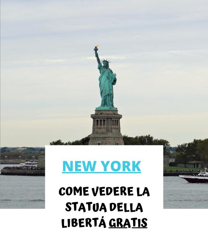 Come vedere la Statua della Libertà gratis