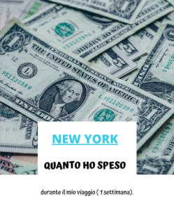 Quanto ho speso a New York