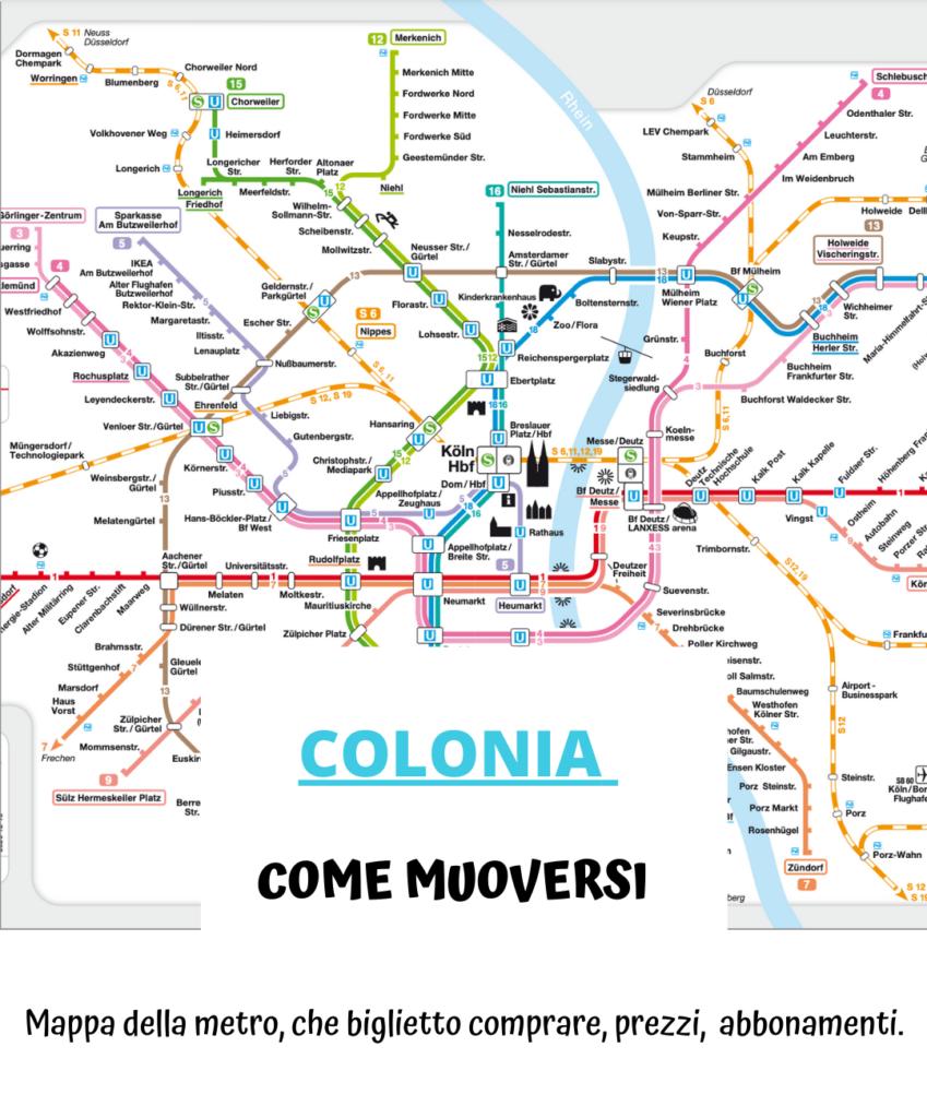 Colonia come muoversi