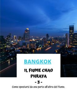 Fiume Chao Phraya Bangkok
