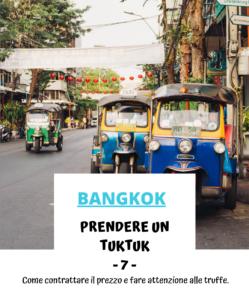 Prendere un tuktuk a Bangkok